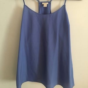 Size 6 j crew silk periwinkle top
